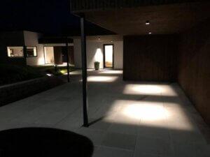 led outside